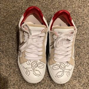 zadig & voltaire white shoes
